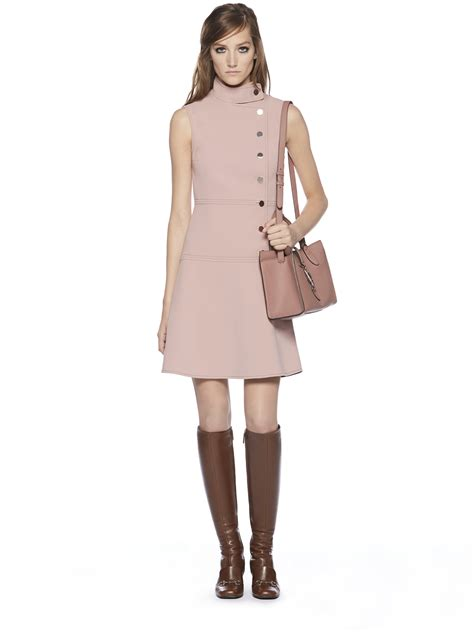 dresses by gucci asymmetric sleeveless dress in pink lyst