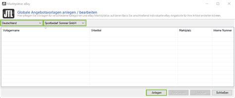 Angebotsvorlage Software Ebay Angebot Erstellen Jtl Guide