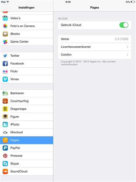 ios pages correctly shows  icloud documents  iphone