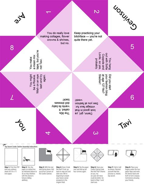 Fortune Teller Folded Paper - 17 best images about printable paper fortune tellers on