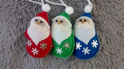 Handmade Ornaments For - felt santa clause ornament ornament handmade felt