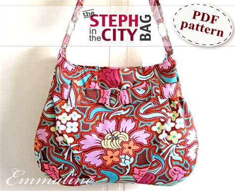 Handmade Bag Patterns - steph in the city bag pdf purse pattern handbag