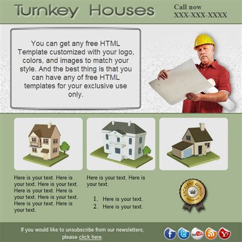 turnkey templates turnkey houses free html e mail templates