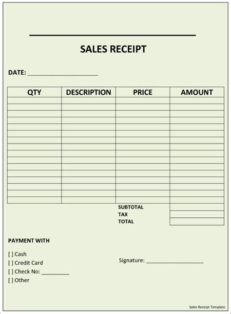 standard photography sales receipt template 10 sales receipt sles templates sle templates