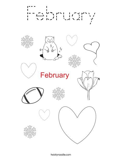 february color 28 images welcome february coloring