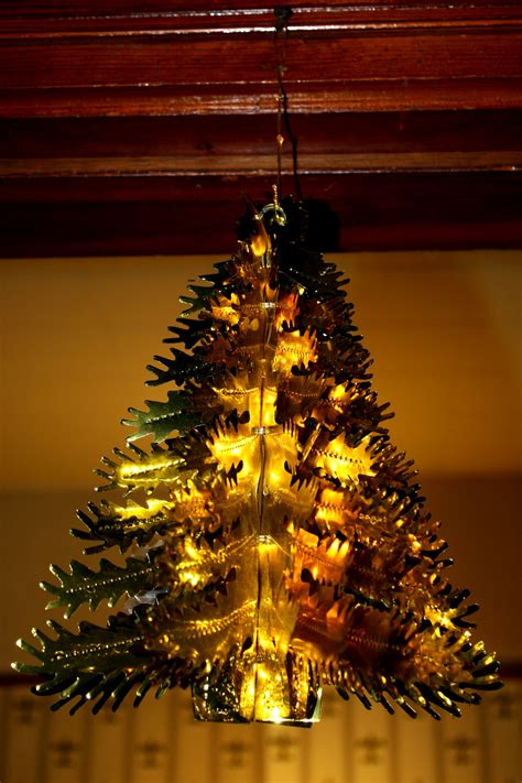 gold foil christmas tree decoration picture free