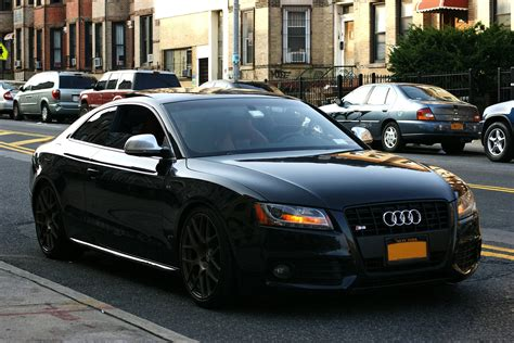 black audi audi s5 black wheels cars