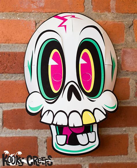 unique characters kooky creeps a set of papercraft halloween masks
