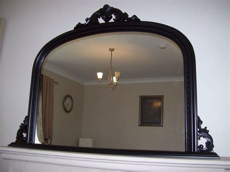 50 x 36 mirror black ornate arched overmantle mirror large 50x36 127cm x