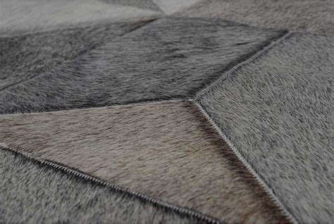 Cowhide Patchwork Rug Gray - patchwork cowhide rug envelope taupe gray patchwork