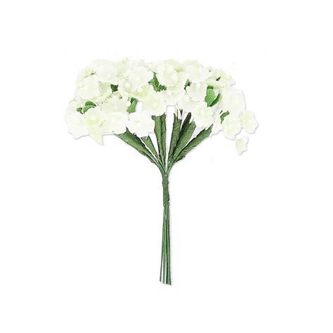 bouquet di fiori di co bouquets di 12 rami di fiori su filo metallico bianco