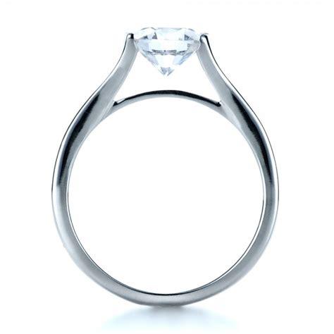 half bezel engagement ring 1258