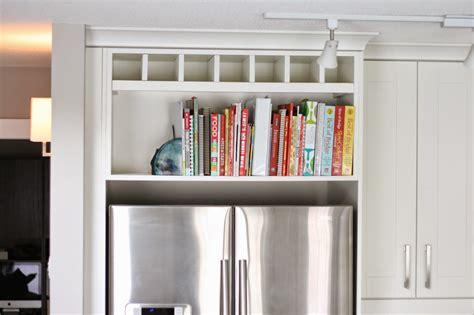 Shelf Above Refrigerator femme eng above the fridge cookbook shelf