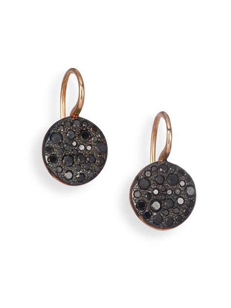 18k Gold Drop Earring lyst pomellato sabbia black 18k gold drop