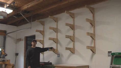 build  lumber rack garage shop   youtube