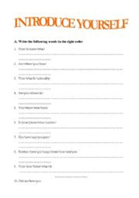 printable quiz about yourself introduce yourself worksheet by isabelle99
