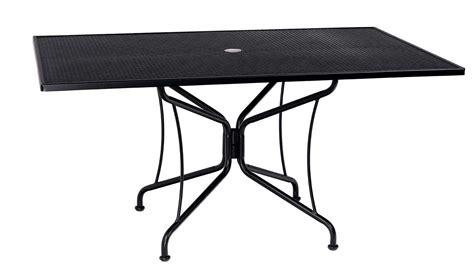 Wrought Iron Patio Table Rectangular; Woodard Wrought Iron