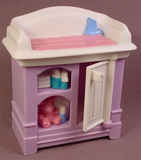 Fisher Price Loving Family Dollhouse 1999 Purple White Fisher Price Changing Table