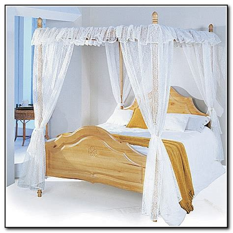 four poster drapes 4 poster bed with curtains beds home design ideas