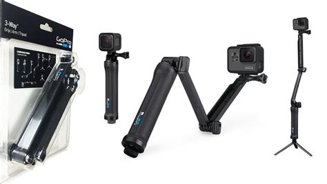 Dijamin Tongsis 3 Way Go Pro 3 way gopro mount grip extension arm or tripod unboxing