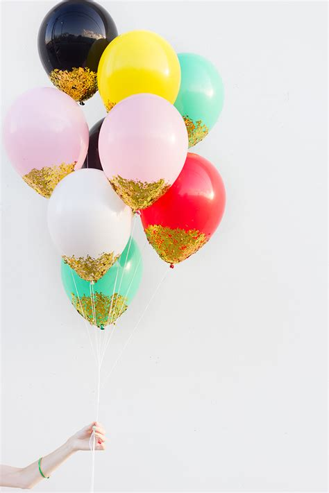 Dior Home Decor by Number Fifteen Diy Confetti Dipped Balloons