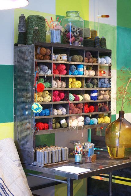 Yarn Storage Cabinets Industrial Shelving Unit Re Purposed For A Wonderful Yarn Storage Space That Looks Great