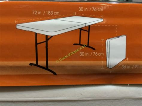 lifetime 6 folding table costco lifetime 6 fold in half table 80264 costcochaser