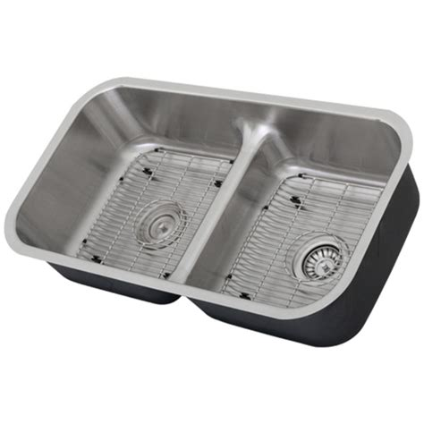 low divide kitchen sink ticor s1210 low divide undermount 16 stainless steel