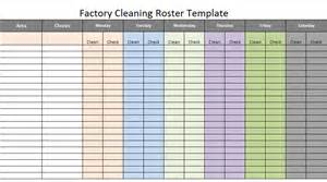Factory Template by Factory Cleaning Roster Scheduling Template Excel About