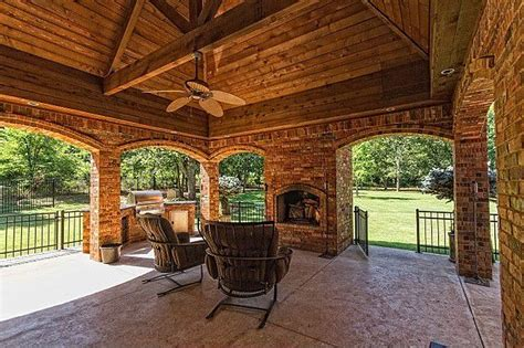covered patio with fireplace great ideas for outdoor kitchens freestyle pools spas inc