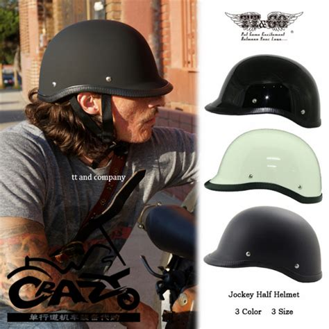Motorradhelm Klein by Tt Co Retro Helmet Harley Motorcycle Helmet Jockey Half