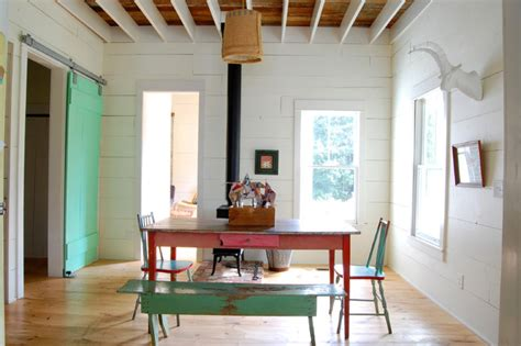 Houzz Farmhouse Dining Room My Houzz Colorful Vintage Finds Fill A Chic Modern
