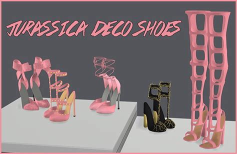 Kitchen Furniture Store Jurassica Deco Shoes By Sympxls At Simsworkshop 187 Sims 4