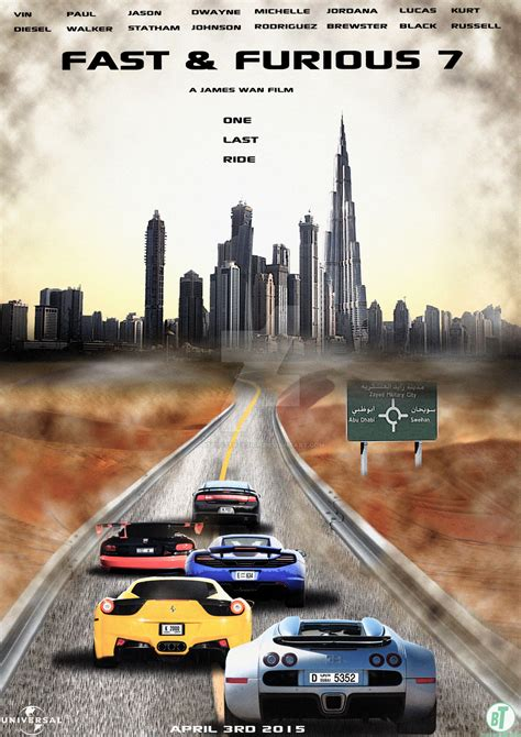 fast and furious 8 dubai fast and furious 7 abu dhabi poster 2015 by btposterdesign