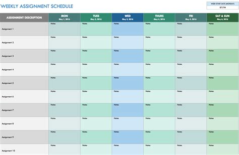 weekly itinerary template excel 7 day schedule excel calendar template 2016