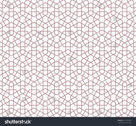 vector pattern hex seamless islamic pattern hexagons hex stars stock vector