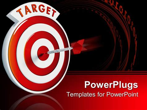 Powerpoint Template Dart In Middle Of A Target Red And White Bullseye With Dart In Center 28477 Target Powerpoint Template