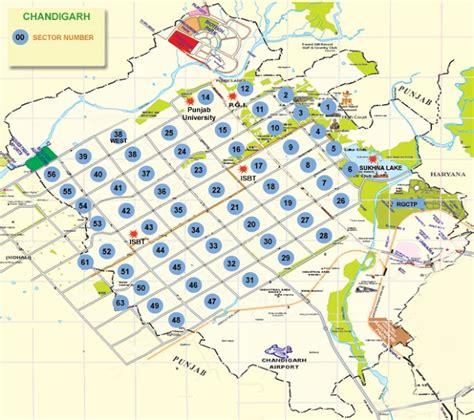 layout plan of chandigarh sectors chandigarh union territory of chandigarh map tourism