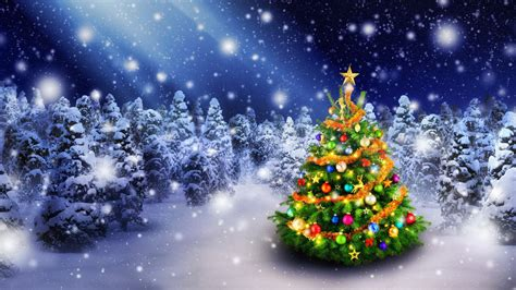 wallpaper christmas tree spruce trees decoration snowfall  celebrations christmas