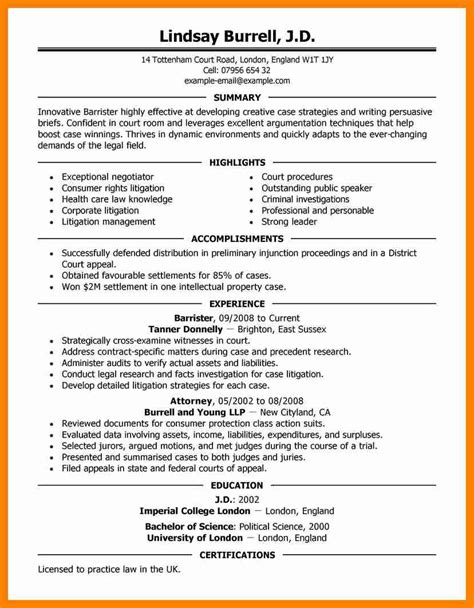 11 experienced attorney resume sles letter signature