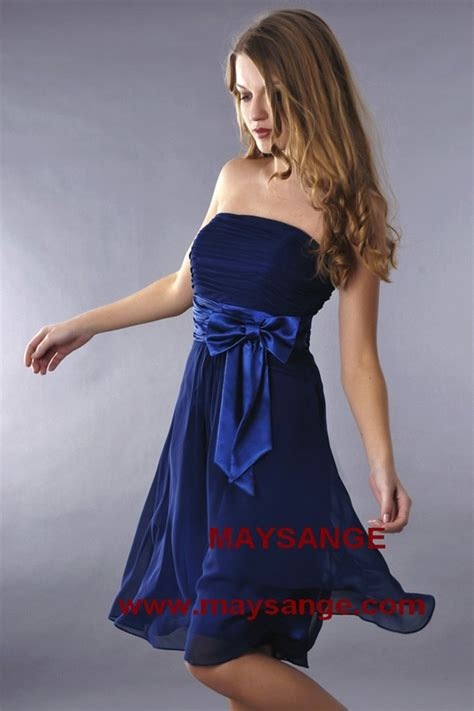 robe bleu marine robe de cocktail maysange