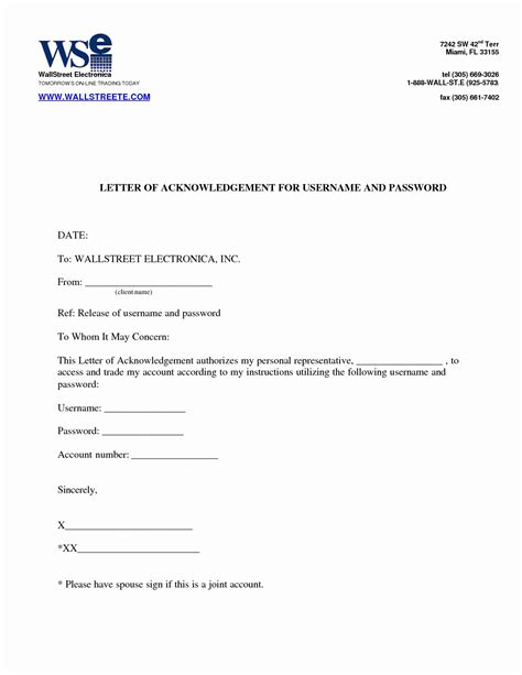 employee acknowledgement form template payment