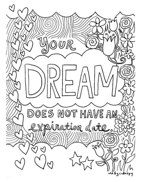 craftsy coloring pages dream quote by craftsyblog craftsy