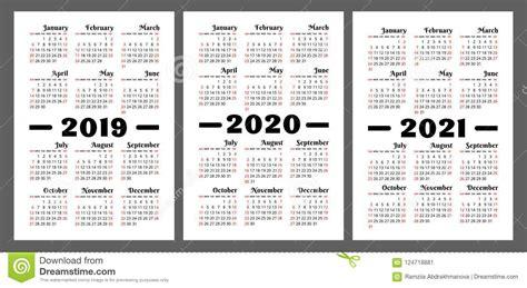 calendar    years colorful vector set week start stock vector illustration