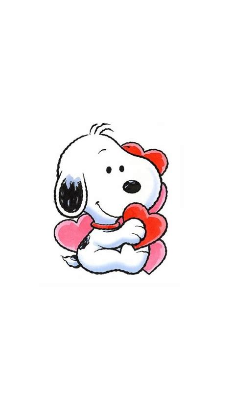 snoopy wallpaper pinterest baby snoopy with hearts iphone wallpaper background
