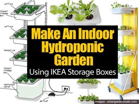 Patio Vegetable Garden Using Ikea Storage Boxes To Build Indoor Hydroponic Gardens