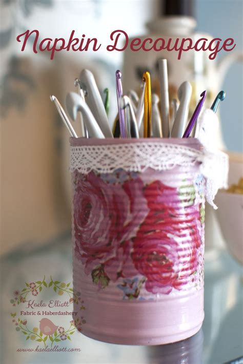 Decoupage Tins - 25 best ideas about napkin decoupage on