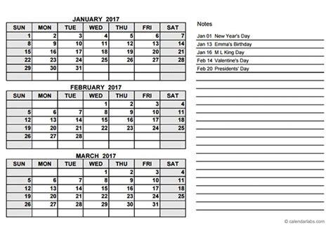 calendar template 3 months per page calendar 3 months per page free calendar template