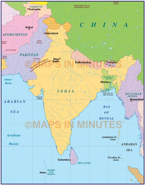 on india india simple political map 10 000 000 scale asia