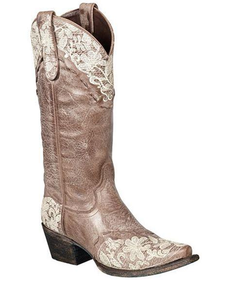 jeni lace boots jeni lace cowboy boot in brown by boots